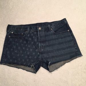 LEVI'S BUTTON FLY STARS AND STRIPES SHORT